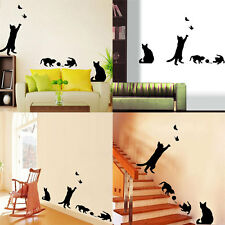 Cat Meow Art Wall Stickers Livingroom Bedroom Home Decoration Accessories