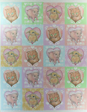 "60 BUNNY CAT PIG LOVE STICKERS 2"" ROUND Peel Stick Rabbit Kitten Animal Hearts"