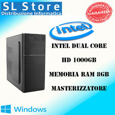 PC DESKTOP COMPUTER ASSEMBLATO INTEL DUAL CORE D1800M RAM 8GB - HD 1TB  WIN10