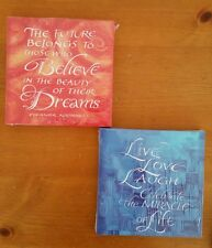 """New Inspirational Canvas Art 8""""x 8"""" inches  Wall Hangings! set of 2 pieces"""