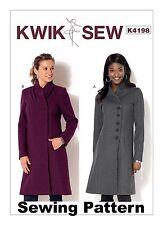 Kwik Sew K4198 Pattern Misses Coats XS-XL BN