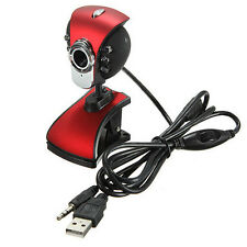 USB Digital Red Webcam Camera Web Cam With Built in Mic for Laptop Desktop PC #C