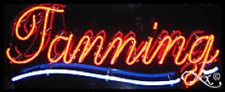 "BRAND NEW ""TANNING"" 32x13 UNDERLINED REAL NEON SIGN w/CUSTOM OPTIONS 10636"