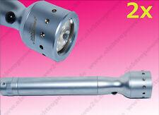 2x LED Lenser-V2 Luna Lente Linterna luz LED/ Lámpara 7549 con Bolsa de cinturón