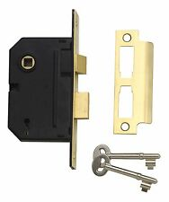 """8206 - Electro Brass Mortice Door Sash Lock 3 Lever 64mm 2.5"""" **FREE SHIPPING**"""
