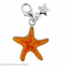 Sterling Silver clip on Charm Tingle Starfish with Gift Box and bag