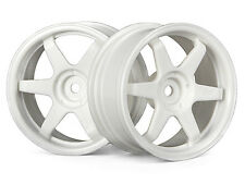 HPI 3840 TE37 rueda 26MM Blanco (3MM offset) [1/10 Touring Car 26MM ruedas] Nuevo!