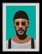 LEON THE PROFESSIONAL JEAN RENO A3 POSTER POP ART PRINT - LIMITED EDITION OF 100
