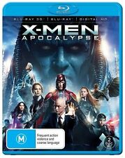 X-Men Apocalypse 3D (Blu-ray 3-D, 2016, 2-Disc Set) NEW