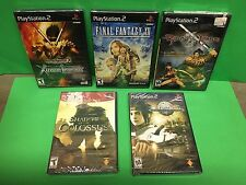 PS2 NEW SEALED & UNOPENED 5 GAME LOT: Final Fantasy XII, Samurai Warriors 2...