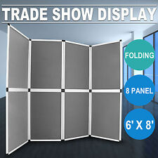 6'x8' Folding 8 Panels Trade Show Display Booth Portable Backdrop  Banner Stand
