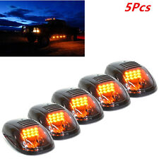 5X Smoked Lens Cab Roof Marker Running Lamps Amber LED Lights For Truck 4x4 SUV