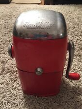 "Vintage Mid-Century Orange & Chrome Rival Ice-o-Matic NO 455 Ice Crusher,""Vogue"""
