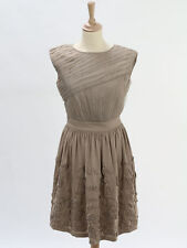 Reiss BNWT Womens Mocha Chiffon And Texture Dress Size 6