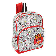 "ANGRY BIRDS BACKPACK Red Girls School Book Bag 16"" Female Video Game App NEW"