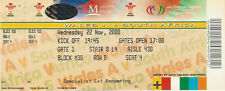 SOUTH AFRICA 2000 RUGBY TOUR TICKET v WALES A at Cardiff COMPLETE TICKET