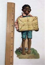 SUPER Valentine - Black African Americana Mechanical Fold out ca 1900 Tuck day