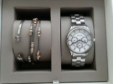 Fossil Stainless Steel Multifunction Women's Watch And Bracelet Set BQ3077