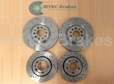 DRILLED BRAKE DISCS FRONT REAR 2.8 V6 VW GOLF 4 MOTION