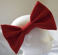 HEADBAND WITH LARGE VALENTINE'S RED 7 INCH BIG HAIR BOW LADIES GIRLS NEW
