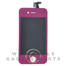 LCD Digitizer Frame Assembly for Apple iPhone 4S CDMA GSM Purple  Front Glass