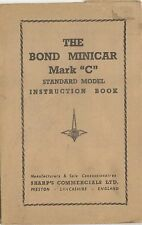 Bond Minicar Mark C Standard Model Original Owners Handbook