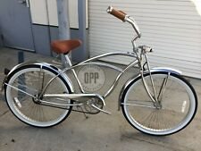 "Micargi Cougar GTS 26"" Beach Cruiser Men's Bicycle - Chrome - New 2015 Model!"