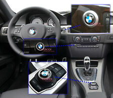 i drive + radio controller + engine push start button emblem for BMW E92 LCI ◎