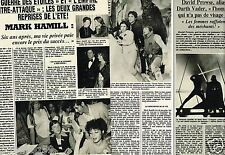 Coupure de Presse Clipping 1982 (2 pages) Mark Hamill Star Wars