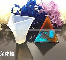 1 PC 50MM Triangular Pyramid Silicone Mold Mould For Epoxy Resin Making S3