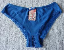 Culotte femme ouverte fendu slip coton bleu taille XL/XXL neuf