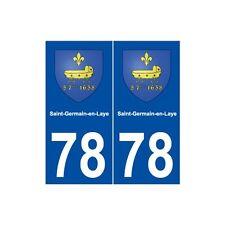 78 Saint-Germain-en-Laye blason autocollant plaque stickers ville arrondis