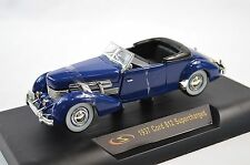 CORD 812 CONVERTIBLE 1937 BLUE SIGNATURE 1:32 32312 NEW DIECAST MODEL PARTS OPEN