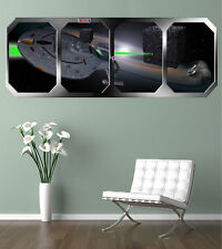 star trek voyager   BORG ATTACK  !!! GIANT WINDOW VIEW POSTER