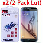 2x Premium Real Tempered Glass Screen Protector Guard for Samsung Galaxy S6