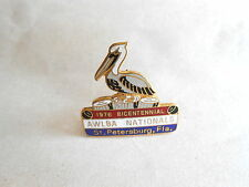 Vintage 1976 AWLBA Lawn Bowling Association St Petersburg Florida Pelican Pin