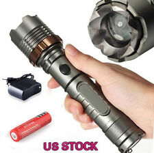 Tactical Police 8000LM  X-ML T6 LED Zoomable Flashlight 18650 Battery+Charg
