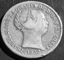 1852 Isabel II 1 Real silver coin