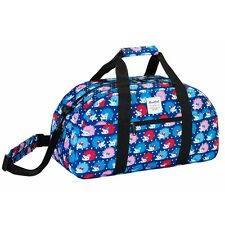 Blue Hedgehog Deluxe Travel Sports Bag Holiday Weekend Sleepover Holdall Bag