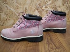 TIMBERLAND WOMENS PINK NELIE CHUKKA WATERPROOF ANKLE NUBURK SHOES  BOOTS UK 5
