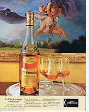 PUBLICITE ADVERTISING 095 1981 Cognac Henessy la part des anges