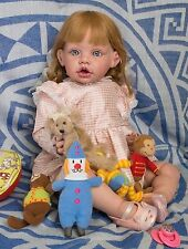 "Tove Fayzah Spanos Reborned by Daria Russian Lullabies 24"" Toddler Unique Doll"