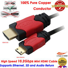 High Speed Mini HDMI to HDMI Cable 6 Feet - 3D and 4K Resolution Ready