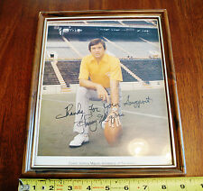 Signed Johnny Majors Head Football Coach University of Tennessee Photo