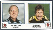 PANINI FOOTBALL 83-#419-A-B-DUNDEE UNITED-JIM McLEAN-MANAGER / HAMISH McALPINE