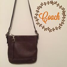 Authentic Coach Brown Leather Crossbody Bag Size 11x11 With Adjustable Strap