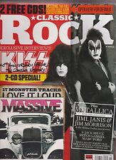 CLASSIC ROCK MAGAZINE + 2 FREE CD MAY 2014, KISS 40th ANNIVERSARY SPECIAL.