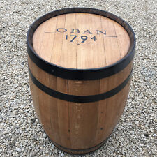 "Solid Oak Recycled Whisky Barrel ""Oban"" Patio Table"