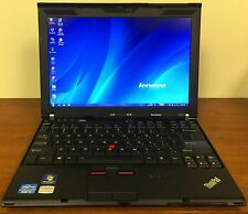 Lenovo ThinkPad X201 Intel Core i7 8GB RAM 160GB SSD Docking Station Windows 7