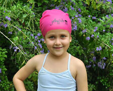 Junior Long Hair Swim Cap for kids with very long hair or braids, Pink